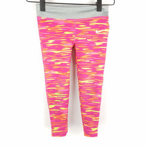 Nike Dri-fit Orange Pink Neon Camo Print Sz 4T